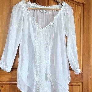 H&M white cotton shirt Sz 6